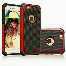 Tough Armor Shockproof Dual Layer Red Case Cover For iPhone 6/6s & 6/6s Plus