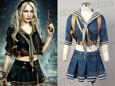 Sucker Punch Baby Doll Jacket+Skirt+Belt+Scarf+Holder Set Cosplay Costume Outfit