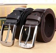 Fashion Mens Leather Belt Casual Pin Buckle Waistband Business Dress Jeans Belts