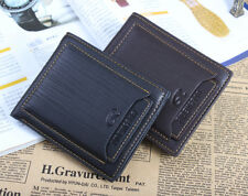 Men's Bifold Wallet Leather Thin Purse Money Clip Card Driving License Holder