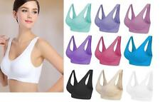 NEW LADIES SEAMLESS COMFORT BRA SPORTS STYLE SHAPEWEAR STRETCH LEISURE BRA TOP