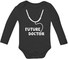 Future Doctor - Cute Baby Grow Vest Funny Unisex Baby Long Sleeve Bodysuit Gift