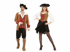 #ONE SIZE ADULT #PIRATE RED/BROWN COSTUME FOR MAN WOMAN FANCY DRESS PARTY