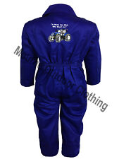 Kids New Holland Tractor Logo Tearaway Junior Coverall Overall Boilersuit