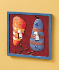 Fishing Lure Home Switch Plate Lodge Cabin 3D Outlet Cover