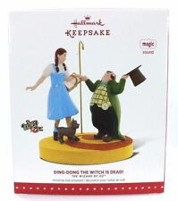"NEW! 2015 HALLMARK WIZARD OF OZ ""DING-DONG THE WITCH IS DEAD"" MAGIC ORNAMENT"