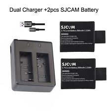 Original 900mAh Li-ion Battery For SJCAM SJ4000 SJ5000+  Camera + Dual Charger