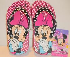Minnie Mouse little Girl's Giggles Flip Flops  Sizes 11 or 12     NEW