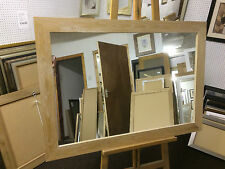 70mm FLAT LIMED SOLID OAK WALL AND OVERMANTLE MIRRORS- VARIOUS SIZES AVAILABLE