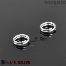 Wholesale 925 Sterling Silver Split Jump Ring Jewelry making DIY Finding 5x0.6mm