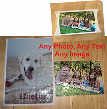 Personalised Photo Jigsaw  Puzzle, A4, A5, A3 Add you own Text Image Photo BOX