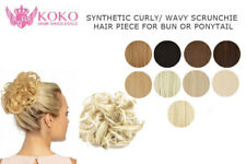 Synthetic Curly/ Wavy Scrunchie Hair Piece For Bun Or Ponytail