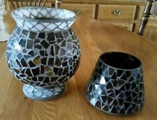 Home interiors mosaic candle holder