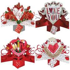 VALENTINES DAY WIFE DARLING HEART LOVE YOU 3D POP UP GREETING CARD