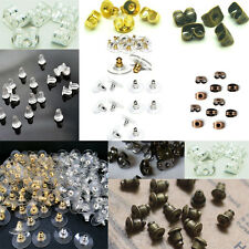 20/50Pcs Assorted Colours Earring Back Stoppers Ear Post Nuts Earring Findings