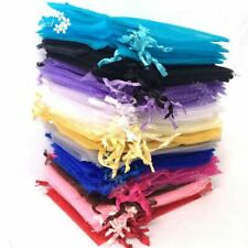 50X-400X Mixed Organza Gift Bags Pouches Wedding Favour Candy Jewelry Bags Decor