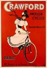 Crawford American Cycles Vintage Bicycle Poster by Dudley Hardy Cycling