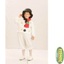 CHILDS SNOWMAN CHRISTMAS HOOPED OUTFIT + HAT  kids girls boy fancy dress costume