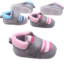 Kids Boy Girls Toddler Cotton Warm Shoes Soft Sole Indoor Baby Snow Boots