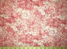 Pink Rose Fabric Packed Roses Floral Silver Metallic Sparkle Cotton Fabric t1/3