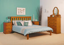 'Nemo' Solid Timber Pine Bed frame. Single/King Single/Double/Queen in Blackwood