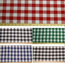 "6 Yards Checkered Fabric 60"" Wide Gingham Buffalo Check Tablecloth Fabric SALE"