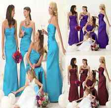 Hot STOCK Prom Party Bridesmaid Wedding Evening Dress Size6-8-10-12-14-16-18
