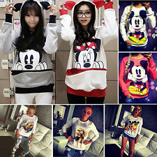 Women's Cartoon Pattern Casual Hoodies Sweatshirt Pullover Jumper Top Sportwear