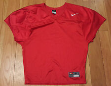 Mens Size M Blank NIKE Game Destroyer Football Mesh Jersey Red FLAWLESS RARE!