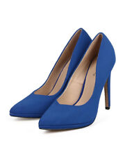 New Women Qupid Virtue-85 Nubuck Pointy Toe Glitter Sole Classic Stiletto Pump