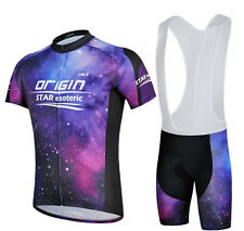 Outdoor Sports Cycling Jersey (Bib) Shorts Bike Clothes Clothing Set Purple Star