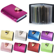 Leather Cards Business Name ID Credit Card Holder Book Case Keeper Organizer BGO