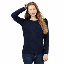Mantaray Womens Navy Textured Knit Jumper From Debenhams