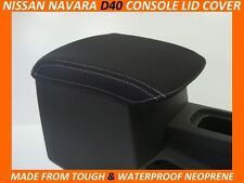 NISSAN NAVARA D40 ST STX RX  NEOPRENE  CONSOLE LID COVER (WETSUIT MATERIAL)