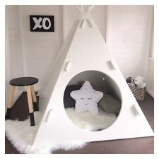 NEW INDOOR WOODEN CUBBY HOUSE TEE PEE (UNPAINTED) - QUALITY AUSTRALIAN MADE