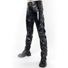 Phaze Shiny Black PVC Eyelet Pants - Gothic,Goth,Fetish