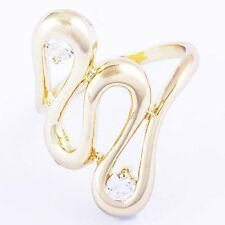 Fashion Yellow Gold Filled Womens Cubic Zirconia long Snake Ring Size 6 7 Lot