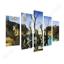 COTTON CANVAS  Salvador Dali Swans Reflecting Elephants 5 Panels art gallery