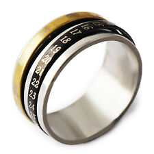 Special Men's Gold Filled/ Stainless Steel Band Promise Love Band Ring Size 8-11