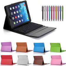 Leather Bluetooth Keyboard Stand Cover Case for Apple iPad Mini iPad 2 3 4 Air 2