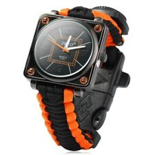 Paracord Outdoor Watch with Survival Compass Whistle Fire Starter Watchband Brac