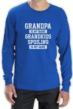 GRANDPA Is Is My Name GRANDKIDS SPOILING Is My Game Funny Long Sleeve T-Shirt
