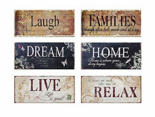 Inspirational Wooden Wall Decor Plaque - Live Laugh Families Dream Home Relax