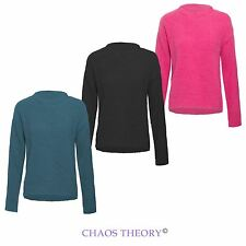 BRAVE SOUL WOMENS LADIES BRUSHED KNIT JUMPER KNITTED PULLOVER CREW NECK SWEATER