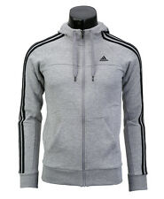 Adidas 2016 Essential 3-Stripes Hooded Full-zip Jacket Fleece Gray X20756