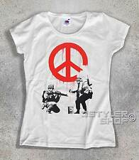 BANKSY T-SHIRT soldiers painting peace soldiers paint la peace street art