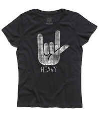 women's T-SHIRT horns HEAVY metal hard rock Black Sabbath Heaven and Hell horns