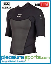 Billabong Foil Neoprene Jacket 2mm Short Sleeve Men's Wetsuit Shirt BEST SELLER