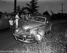 1944 B&W Photo Reprint 8.5x11 Wrecked 1940 Chevrolet Convertible Coupe in Iowa