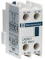 Schneider Telemecanique Auxiliary Contact Front/LADN & Side/LAD8N are Available